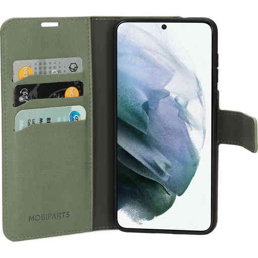 Mobiparts Classic Wallet Case Samsung Galaxy S21 Stone Green
