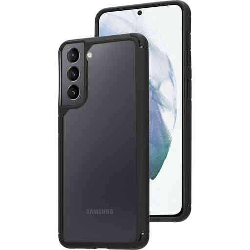 Mobiparts Rugged Clear Case Samsung Galaxy S21 Black