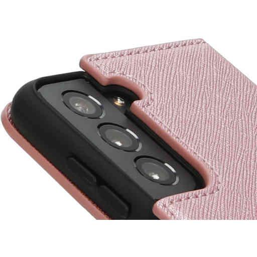 Mobiparts Saffiano Wallet Case Samsung Galaxy S21 Pink