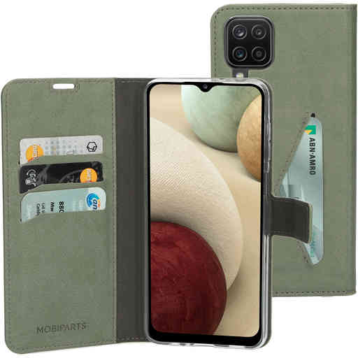 Mobiparts Classic Wallet Case Samsung Galaxy A12 (2021) Stone Green
