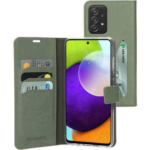 Mobiparts Classic Wallet Case Samsung Galaxy A52 (2021) 4G/5G Stone Green