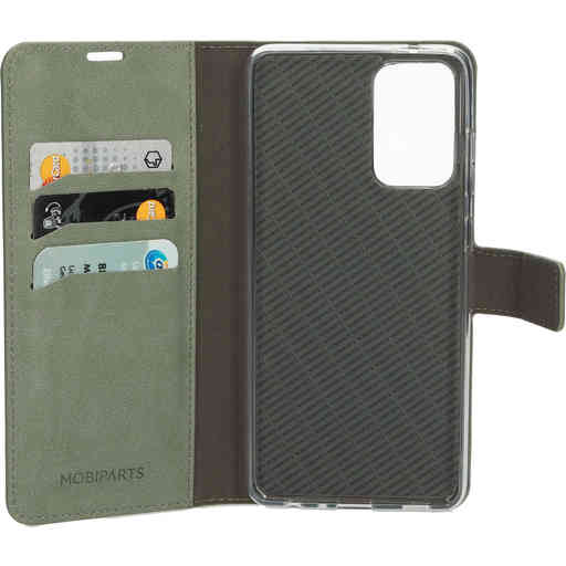 Mobiparts Classic Wallet Case Samsung Galaxy A72 (2021) 4G/5G Stone Green