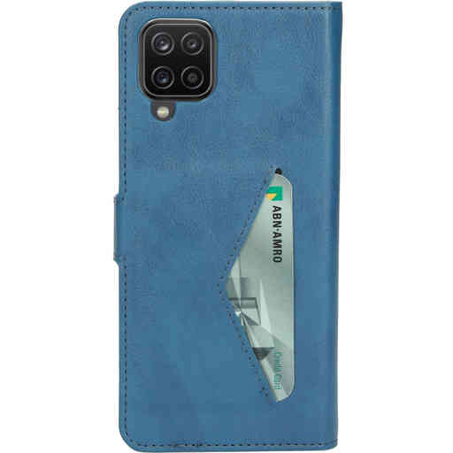 Mobiparts Classic Wallet Case Samsung Galaxy A12 (2021) Steel Blue