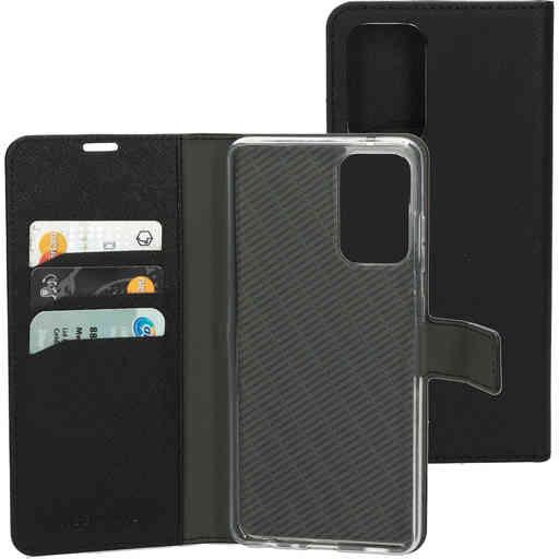 Mobiparts Saffiano Wallet Case Samsung Galaxy A72 (2021) 4G/5G Black