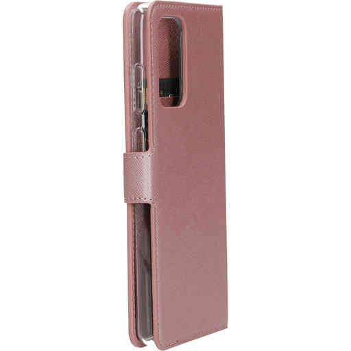 Mobiparts Saffiano Wallet Case Samsung Galaxy A72 (2021) 4G/5G Pink