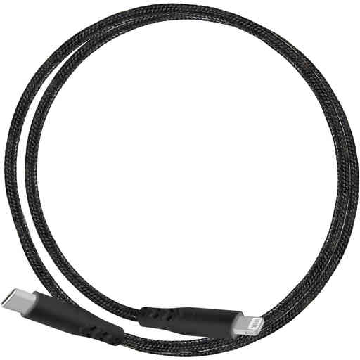 Mobiparts Apple Lightning to USB-C Braided Cable 2A 1m Black