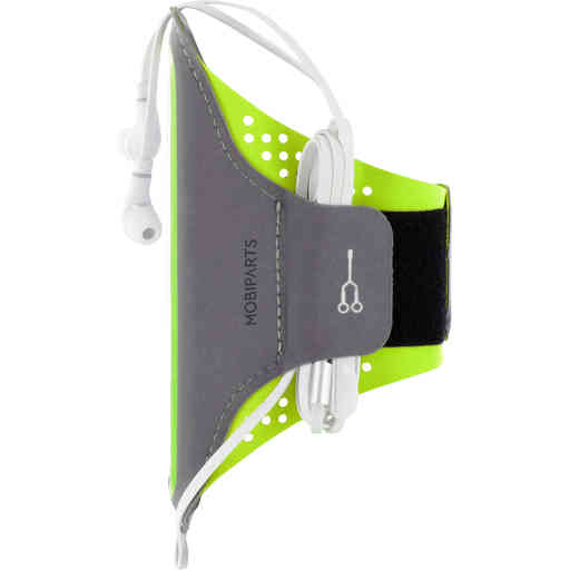 Mobiparts Comfort Fit Sport Armband Samsung Galaxy A12 (2021 Neon Green