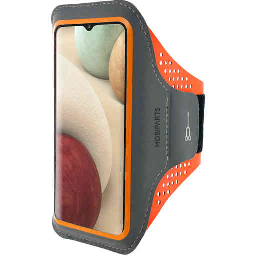 Mobiparts Comfort Fit Sport Armband Samsung Galaxy A12 (2021) Neon Orange