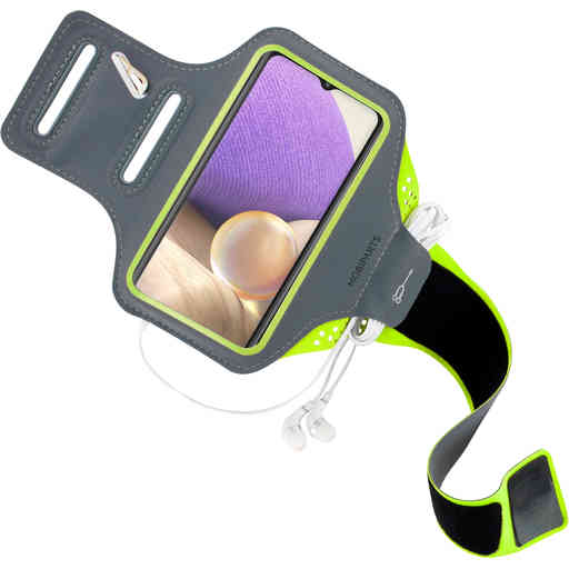 Mobiparts Comfort Fit Sport Armband Samsung Galaxy A32 5G (2021) Neon Green