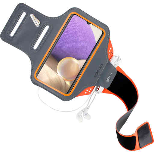 Mobiparts Comfort Fit Sport Armband Samsung Galaxy A32 (2021) 5G Neon Orange