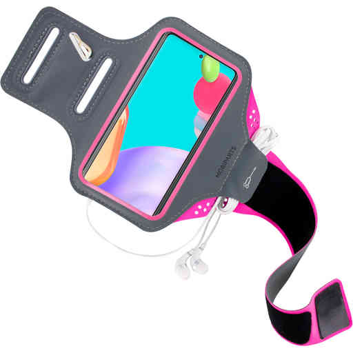 Mobiparts Comfort Fit Sport Armband Samsung Galaxy A52 (2021) Neon Pink