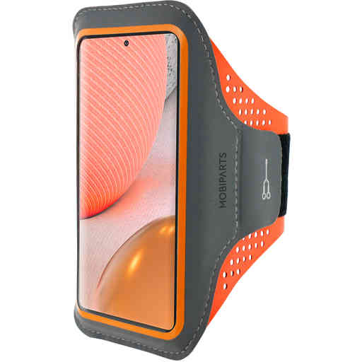 Mobiparts Comfort Fit Sport Armband Samsung Galaxy A72 (2021) 4G/5G Neon Orange