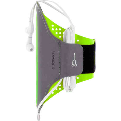 Mobiparts Comfort Fit Sport Armband Samsung Galaxy S21 Neon Green