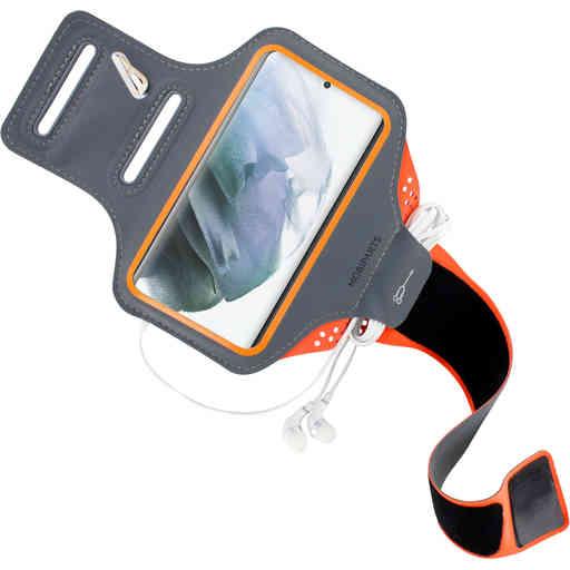 Mobiparts Comfort Fit Sport Armband Samsung Galaxy S21 Plus Neon Orange