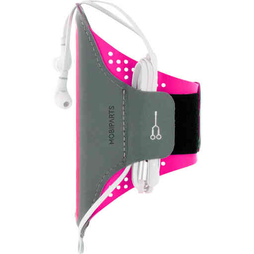 Mobiparts Comfort Fit Sport Armband Samsung Galaxy S21 Plus Neon Pink