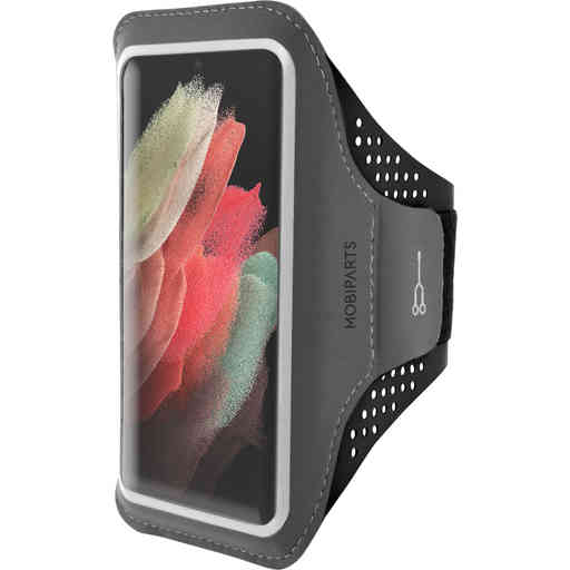 Mobiparts Comfort Fit Sport Armband Samsung Galaxy S21 Ultra Black