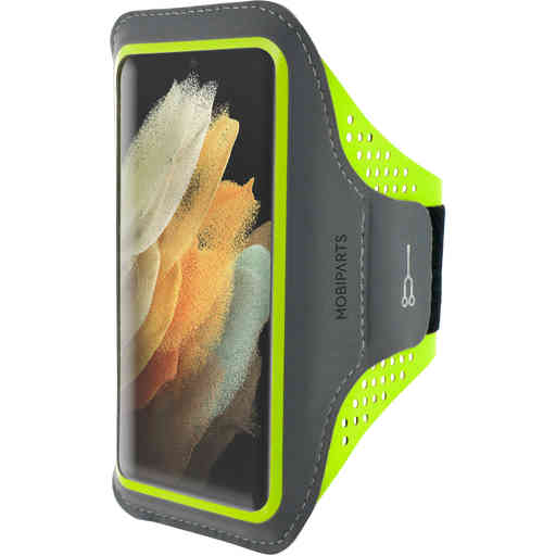 Mobiparts Comfort Fit Sport Armband Samsung Galaxy S21 Ultra Neon Green