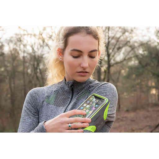 Mobiparts Comfort Fit Sport Armband Samsung Galaxy S21 Ultra Neon Orange