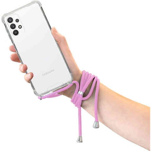 Mobiparts Lanyard Case Samsung Galaxy A32 5G (2021) Violet Cord