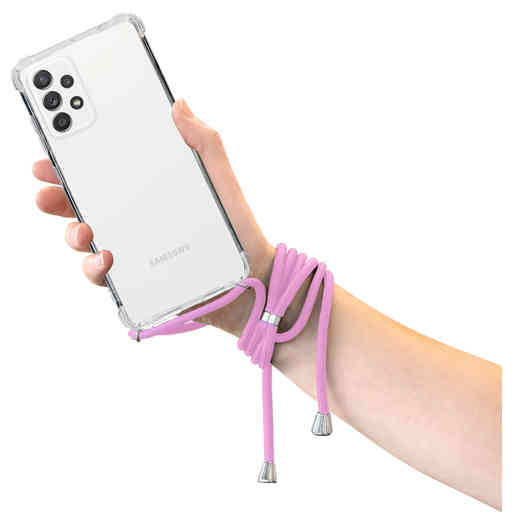 Mobiparts Lanyard Case Samsung Galaxy A52 (2021) Violet Cord
