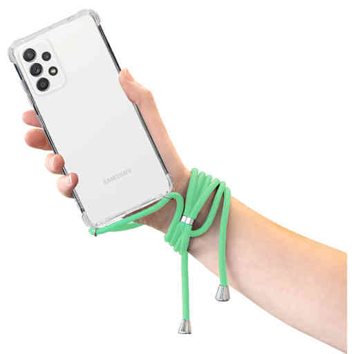 Mobiparts Lanyard Case Samsung Galaxy A52 (2021) Green Cord