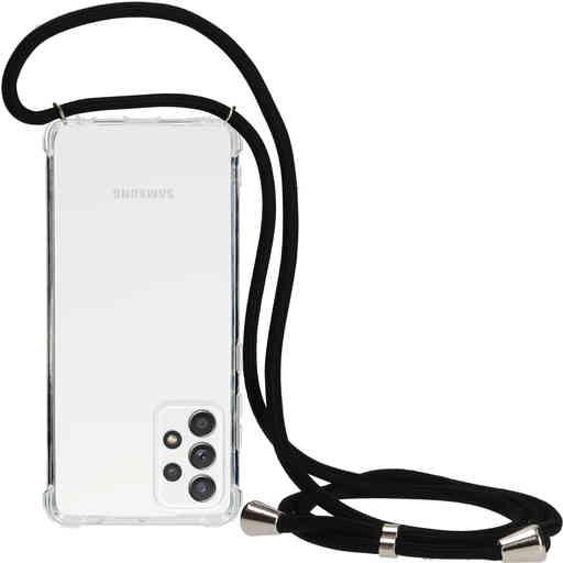Mobiparts Lanyard Case Samsung Galaxy A52 (2021) Black Cord
