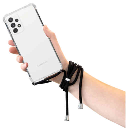 Mobiparts Lanyard Case Samsung Galaxy A52 4G/5G/A52s 5G (2021) Black Cord