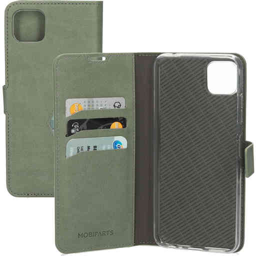 Mobiparts Classic Wallet Case Samsung Galaxy A22 5G (2021) Stone Green