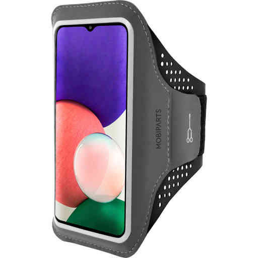 Mobiparts Comfort Fit Sport Armband Samsung Galaxy A22 5G (2021) Black