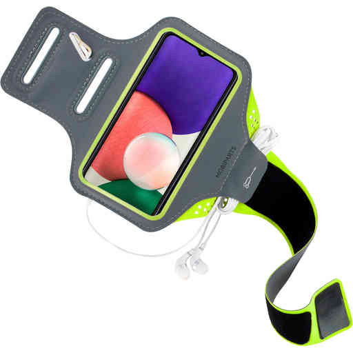 Mobiparts Comfort Fit Sport Armband Samsung Galaxy A22 5G (2021) Neon Green