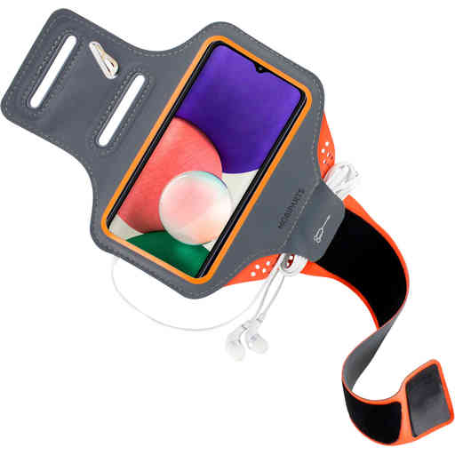 Mobiparts Comfort Fit Sport Armband Samsung Galaxy A22 5G (2021) Neon Orange