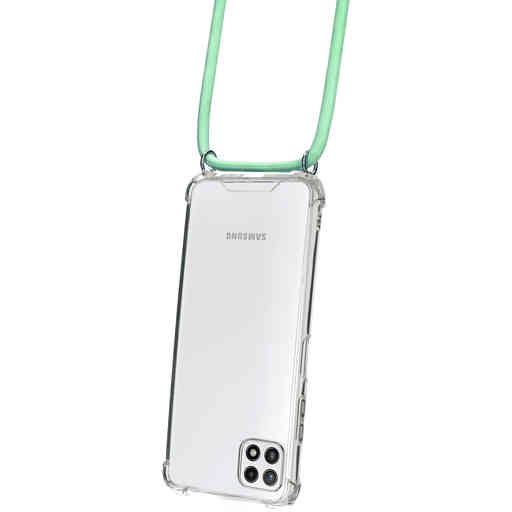 Mobiparts Lanyard Case Samsung Galaxy A22 5G (2021) Green Cord