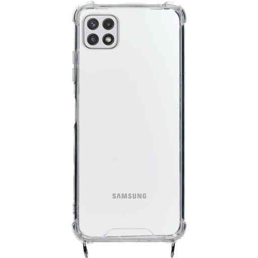 Mobiparts Lanyard Case Samsung Galaxy A22 5G (2021) Violet Cord