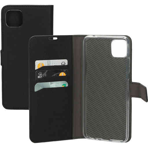 Mobiparts Saffiano Wallet Case Samsung Galaxy A22 5G (2021) Black