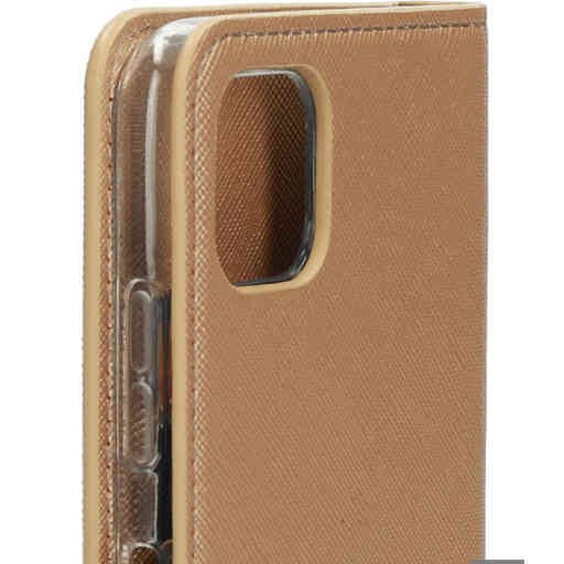 Mobiparts Saffiano Wallet Case Samsung Galaxy A22 5G (2021) Copper