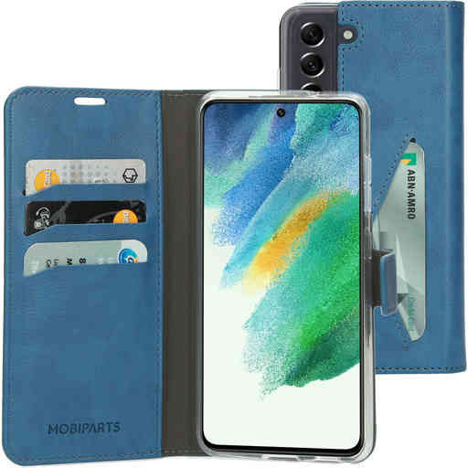Mobiparts Classic Wallet Case Samsung Galaxy S21 FE (2021) Steel Blue