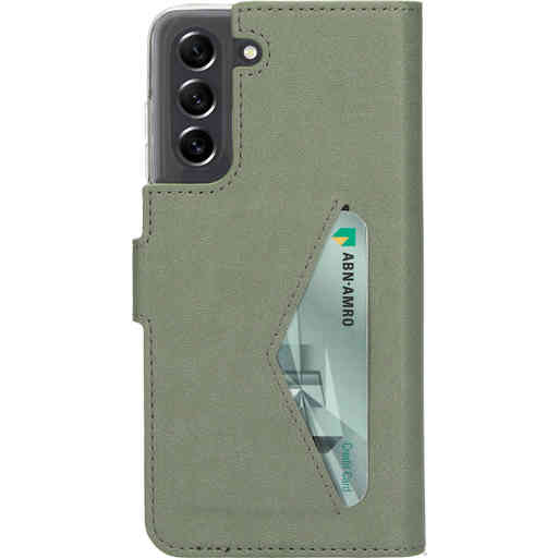 Mobiparts Classic Wallet Case Samsung Galaxy S21 FE (2021) Stone Green