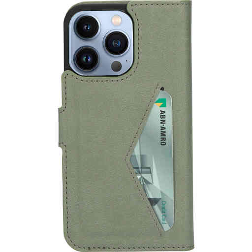 Mobiparts Classic Wallet Case Apple iPhone 13 Pro Stone Green