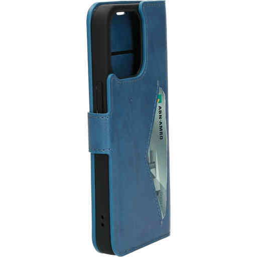 Mobiparts Classic Wallet Case Apple iPhone 13 Steel Blue