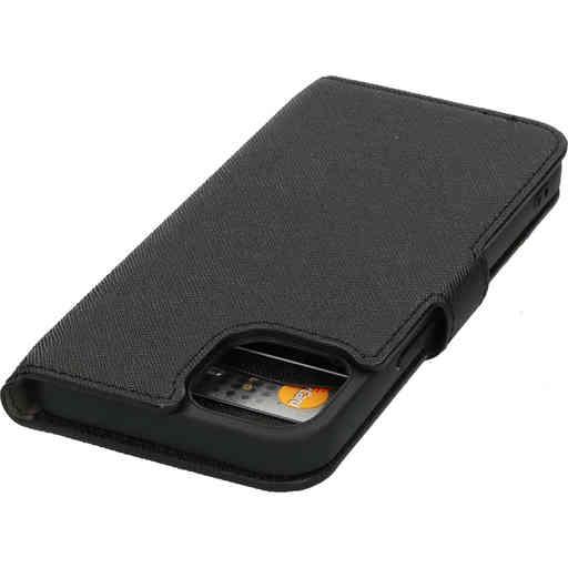Mobiparts Saffiano Wallet Case Apple iPhone 13 Black