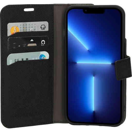Mobiparts Saffiano Wallet Case Apple iPhone 13 Pro Black