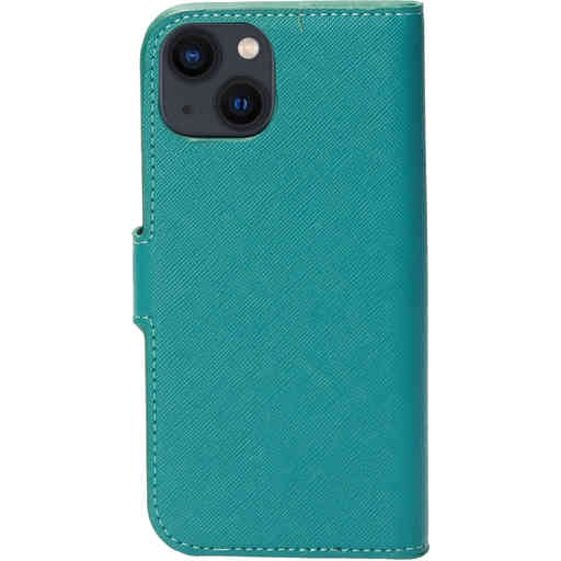 Mobiparts Saffiano Wallet Case Apple iPhone 13 Turquoise