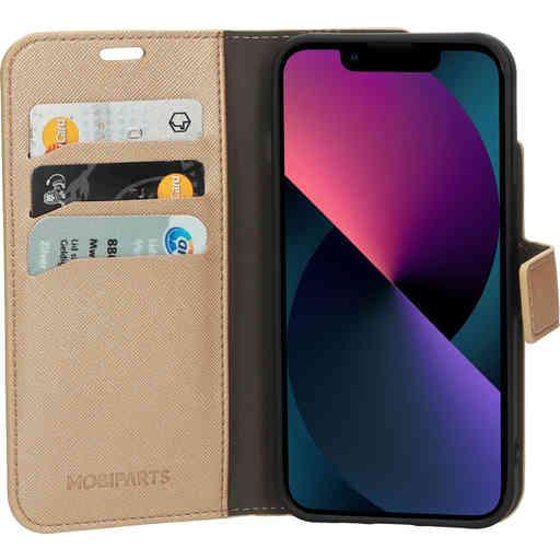 Mobiparts Saffiano Wallet Case Apple iPhone 13 Copper