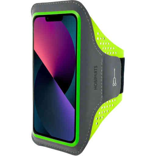 Mobiparts Comfort Fit Sport Armband Apple iPhone 13 Neon Green