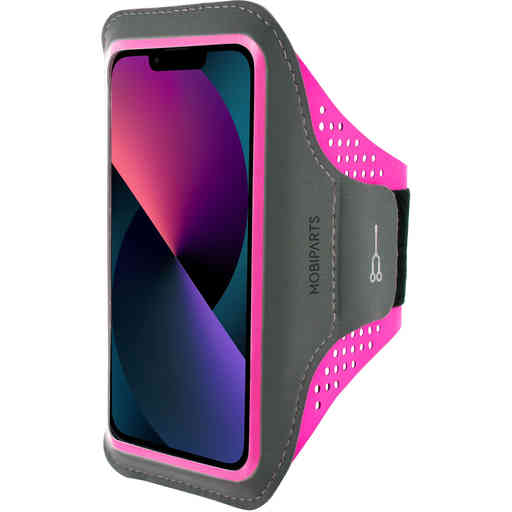Mobiparts Comfort Fit Sport Armband Apple iPhone 13 Neon Pink