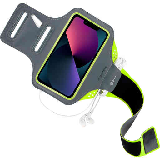Mobiparts Comfort Fit Sport Armband Apple iPhone 13 Pro Neon Green