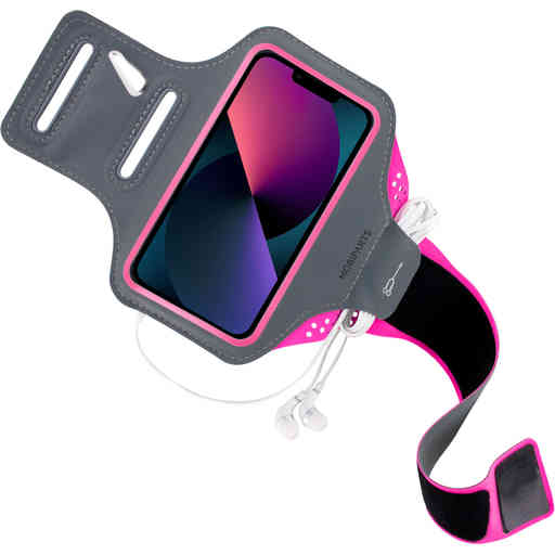 Mobiparts Comfort Fit Sport Armband Apple iPhone 13 Pro Neon Pink