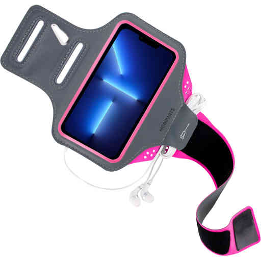 Mobiparts Comfort Fit Sport Armband Apple iPhone 13 Pro Max Neon Pink