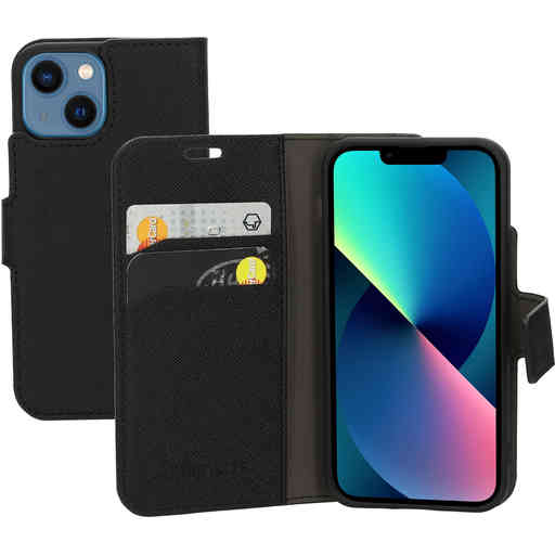 Mobiparts Saffiano Wallet Case Apple iPhone 13 Mini Black