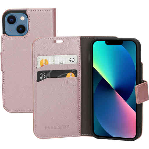 Mobiparts Saffiano Wallet Case Apple iPhone 13 Mini Pink